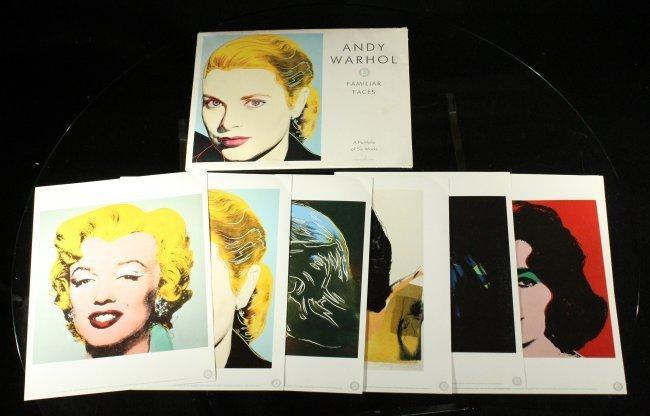 ANDY WARHOL Six [6] PORTRAIT portfolio prints