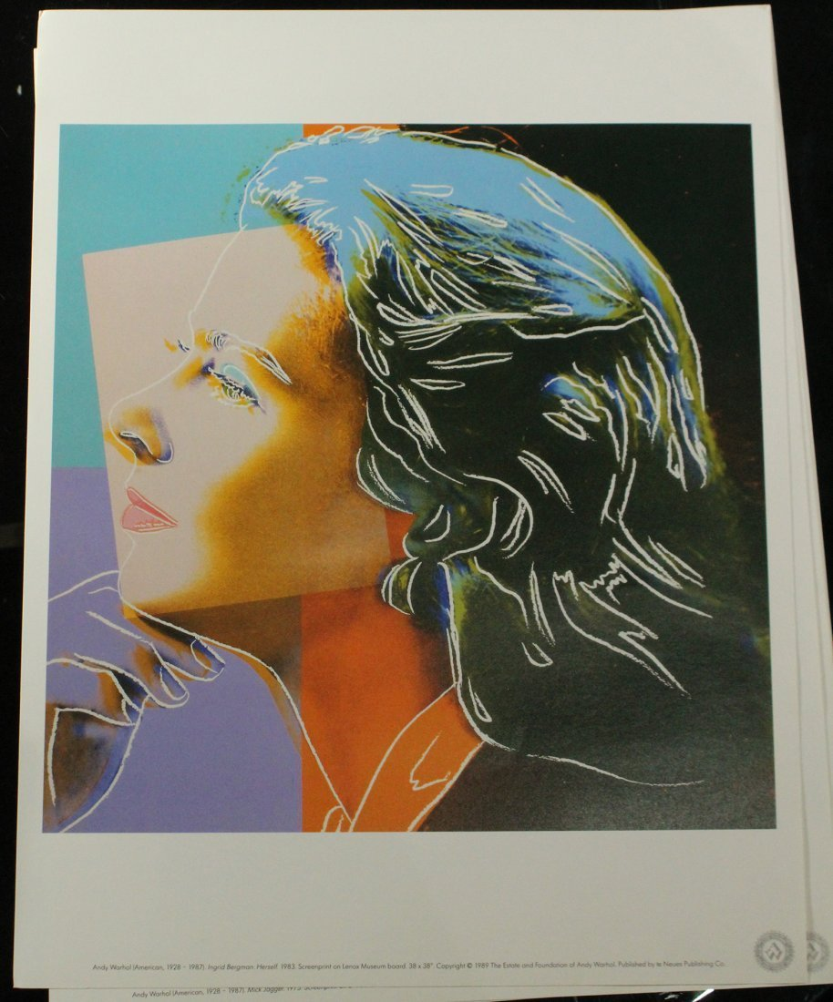 ANDY WARHOL Six [6] PORTRAIT portfolio prints - 4