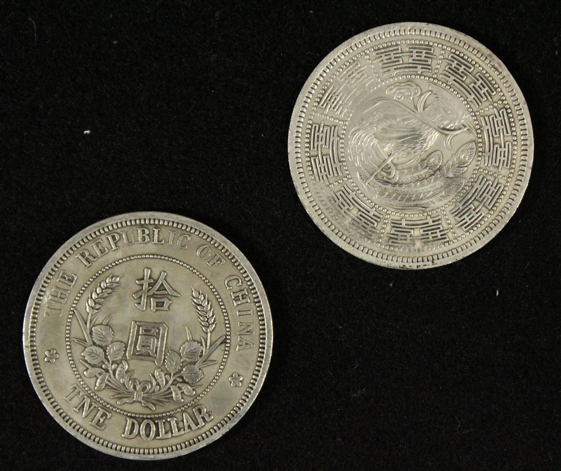 Two [2] Republic of China DOLLAR COINS - 2
