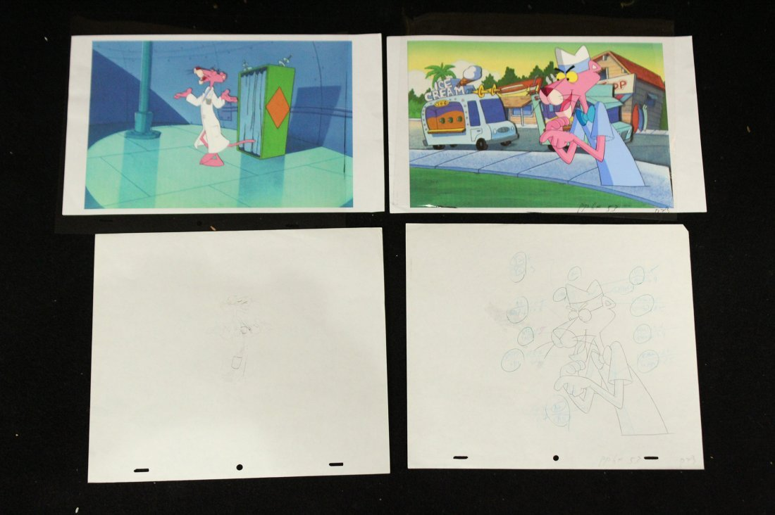 Two [2] PINK PANTHER ANIMATION CELS - 2