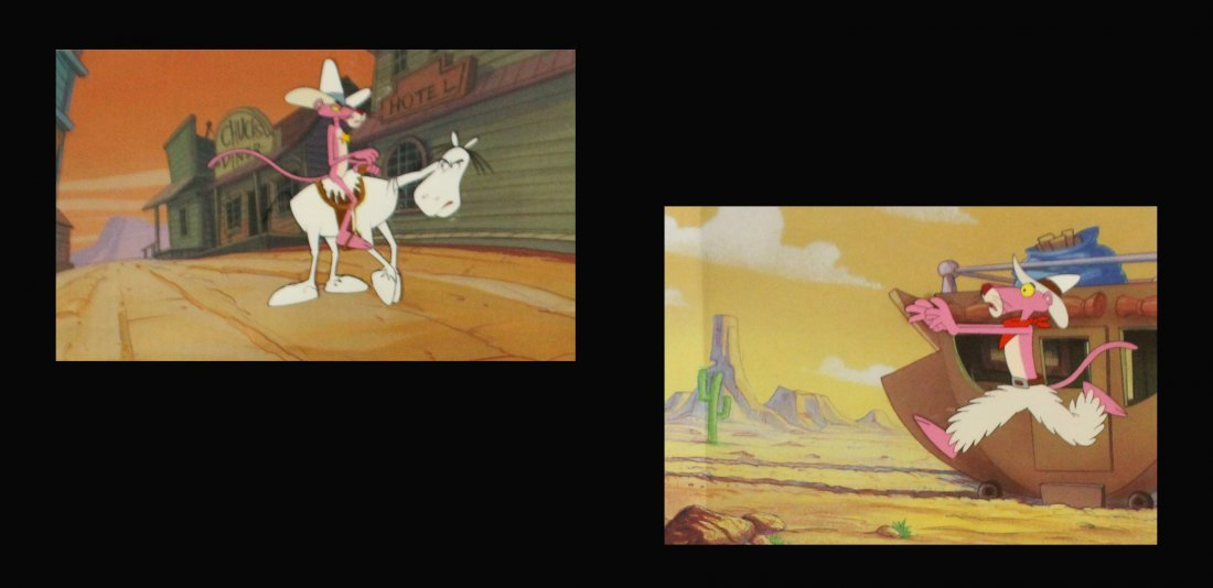Two [2] PINK PANTHER ANIMATION CELS