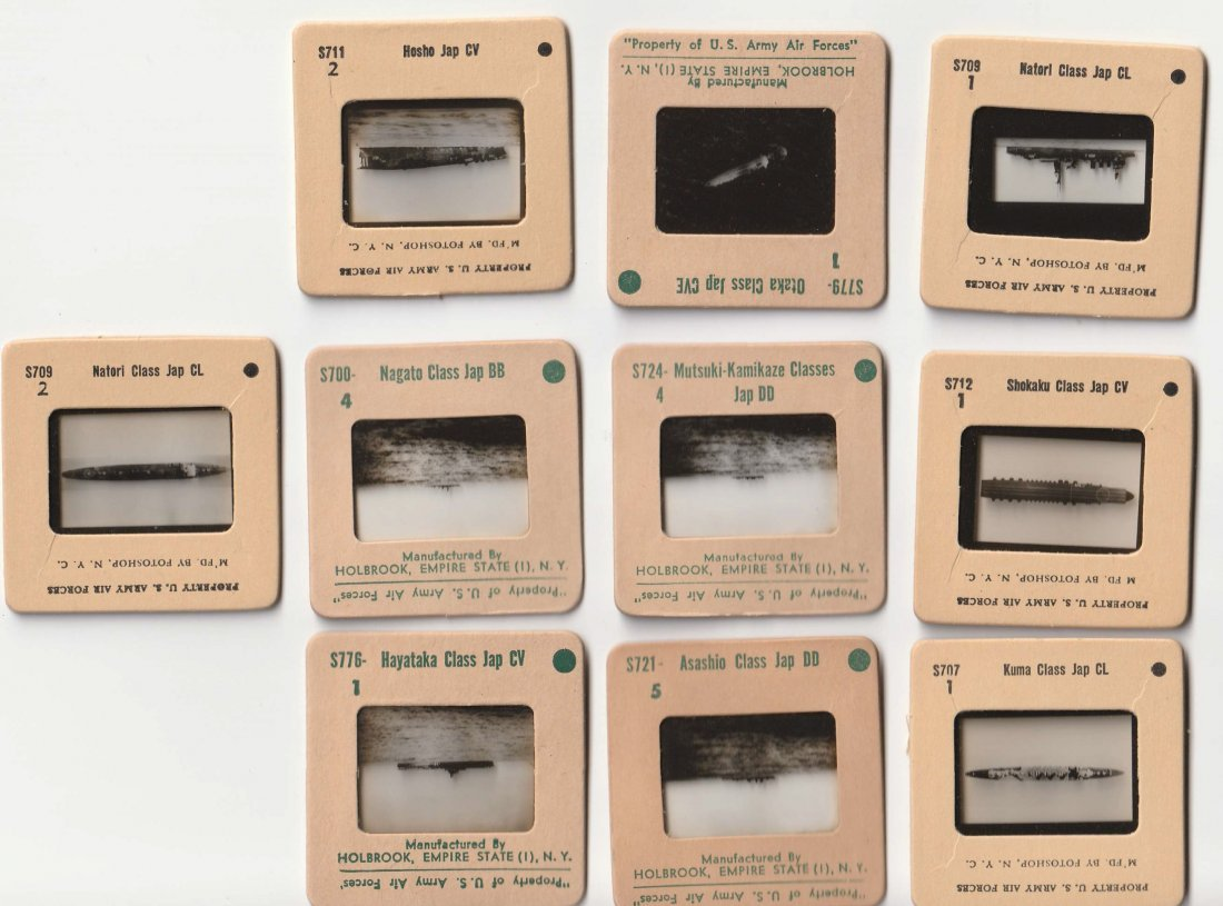 Grouping Vintage WAR SHIP NEGATIVE SLIDES