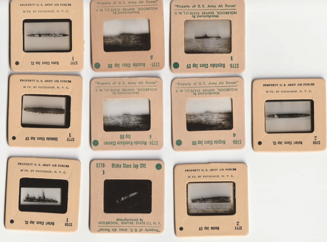 Grouping Vintage WAR SHIP NEGATIVE SLIDES - 2