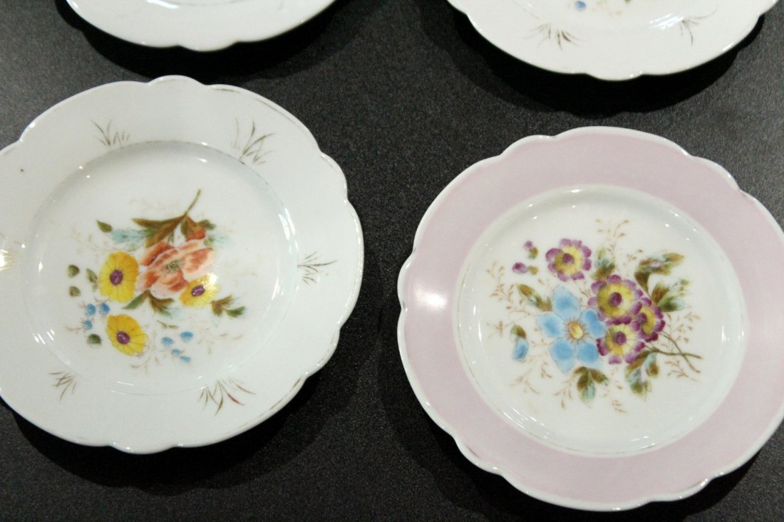 17 Assorted OLD PARIS HAND PAINTED FLORAL PLATES - 2