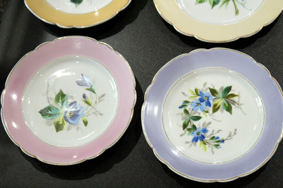 17 Assorted OLD PARIS HAND PAINTED FLORAL PLATES - 5