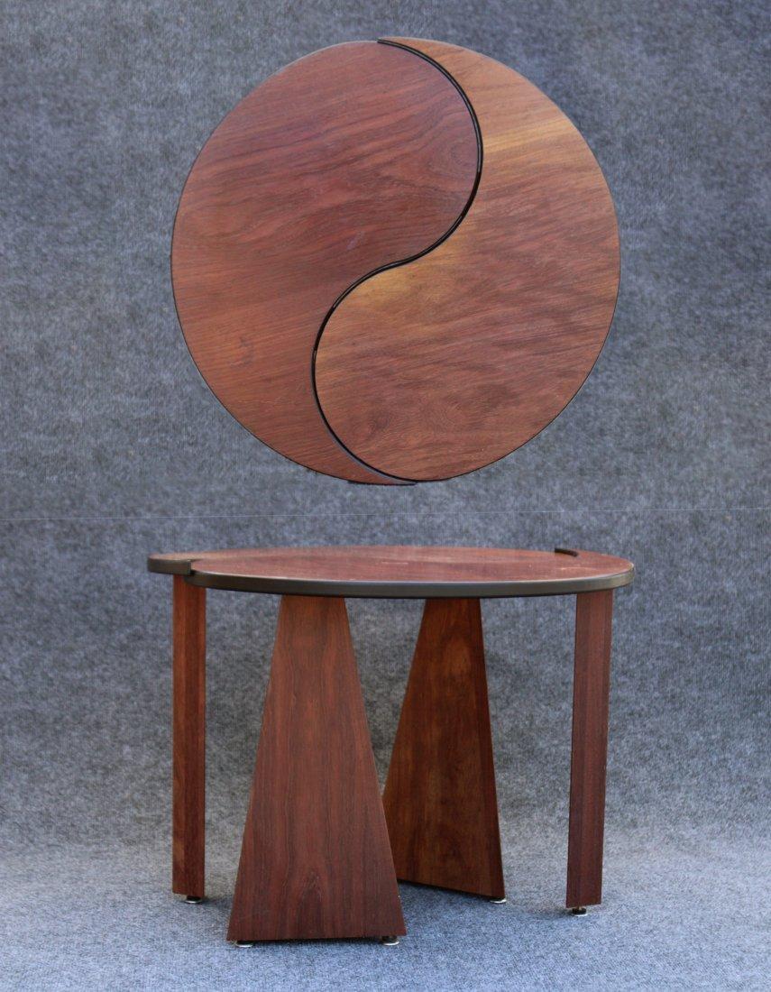 TEAK METAMORPHIC ROUND STAND Designer John Rothschild