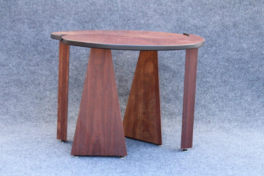 TEAK METAMORPHIC ROUND STAND Designer John Rothschild - 2