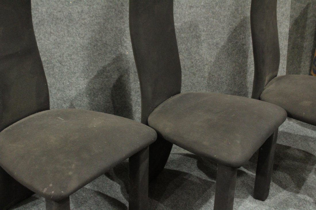 8 Mid-Century Italian Design High Back Dining Chairs - 2