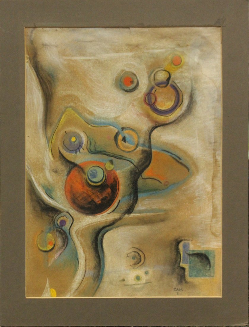 Mid-Century Mixed Media METAMORPHIC ABSTRACT ART
