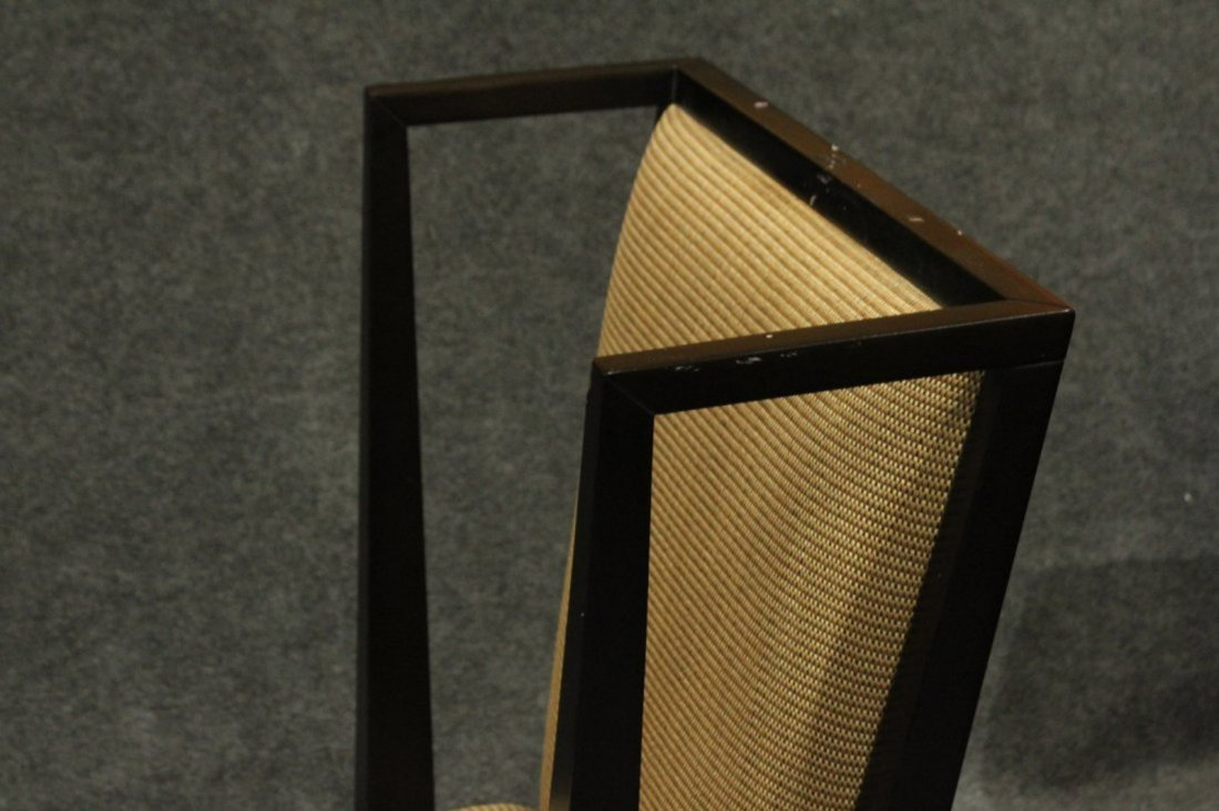 Pair Mid-Century Modern Black Ebony Library Wing Chairs - 3