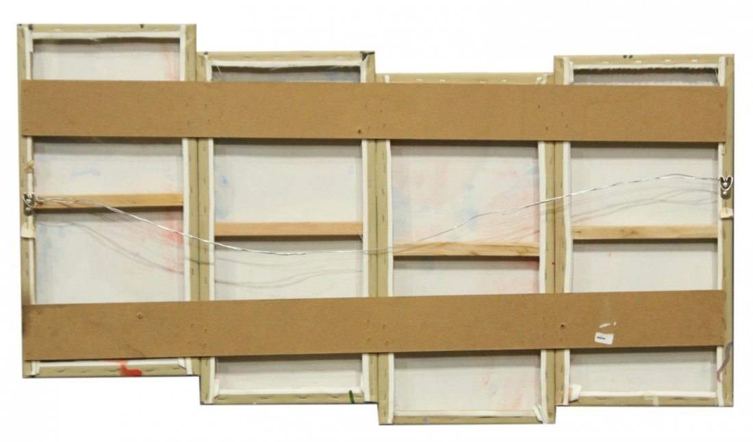 Mid-Century SPECTACULAR 4-PANEL DRIP ART PAINTING - 2