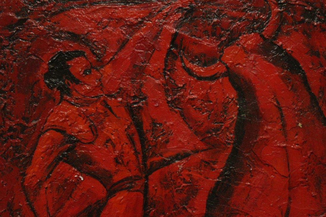 ROY L STEINBERG, Listed Artist, OIL/B BULL FIGHTER - 2