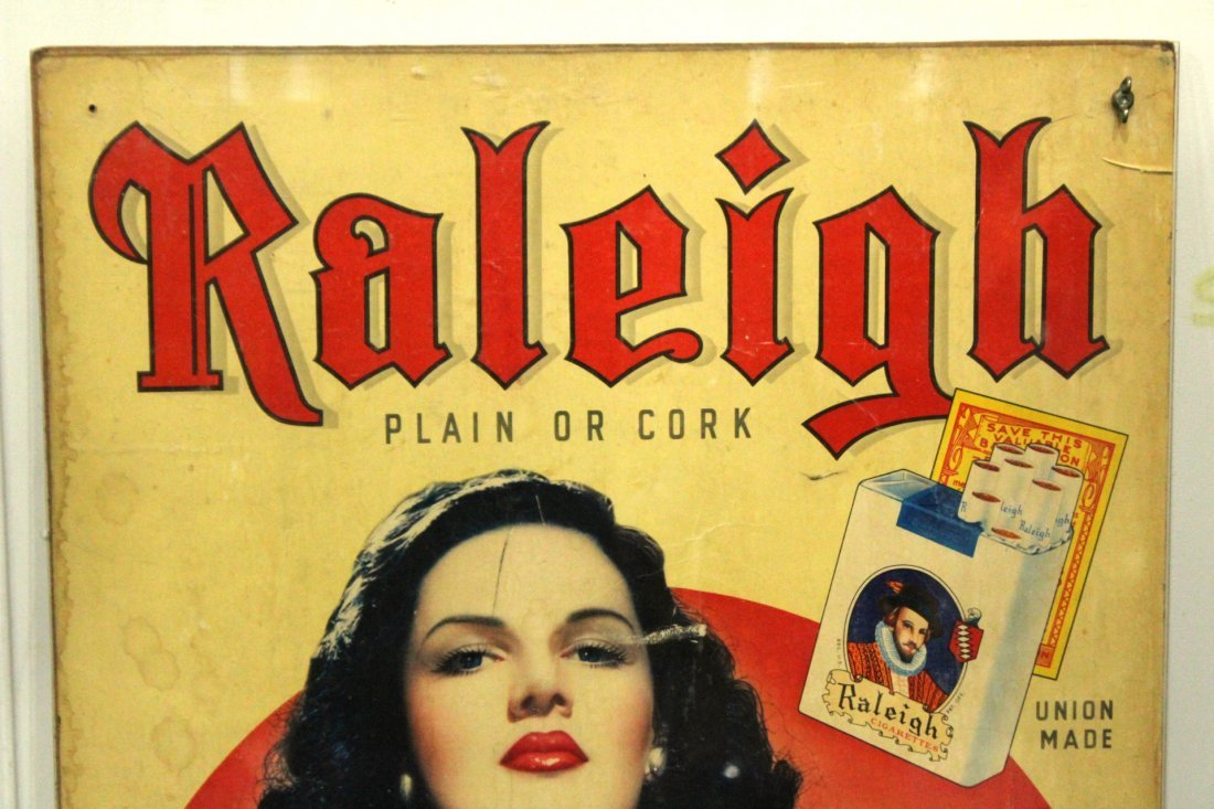 Vintage Poster RALEIGH CIGARETTES Portrait Of Woman - 2