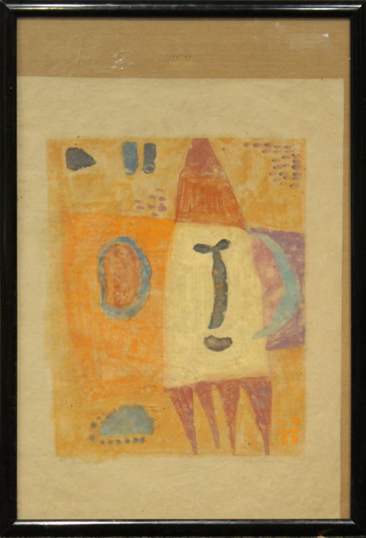 Latin American Signed ABSTRACT ROCKET MAN SPACE AGE