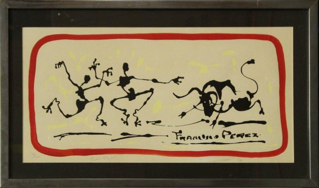 FRANCESCO PEREZ '70 BULL FIGHT Lithograph #23/120