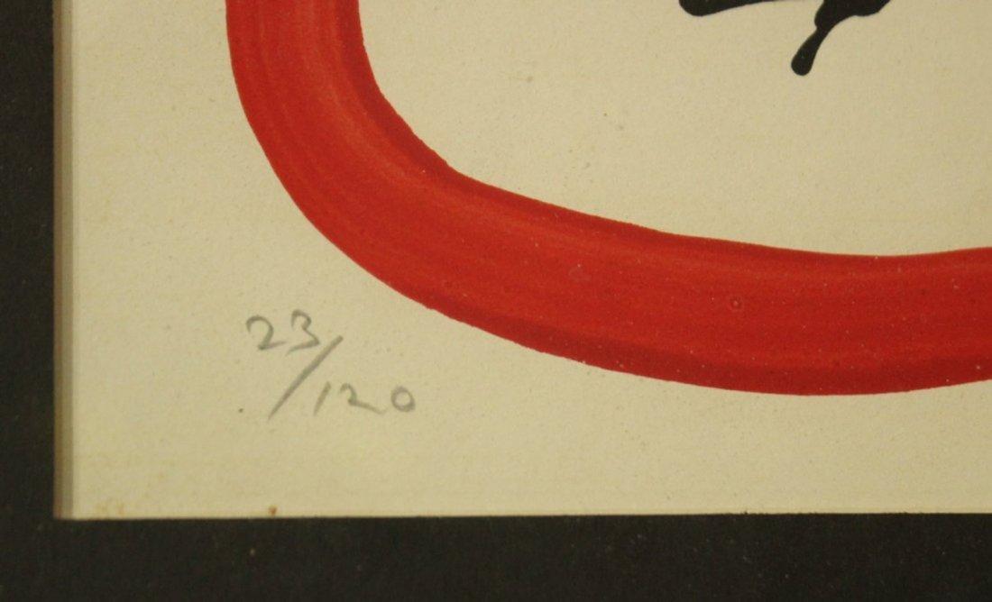 FRANCESCO PEREZ '70 BULL FIGHT Lithograph #23/120 - 2
