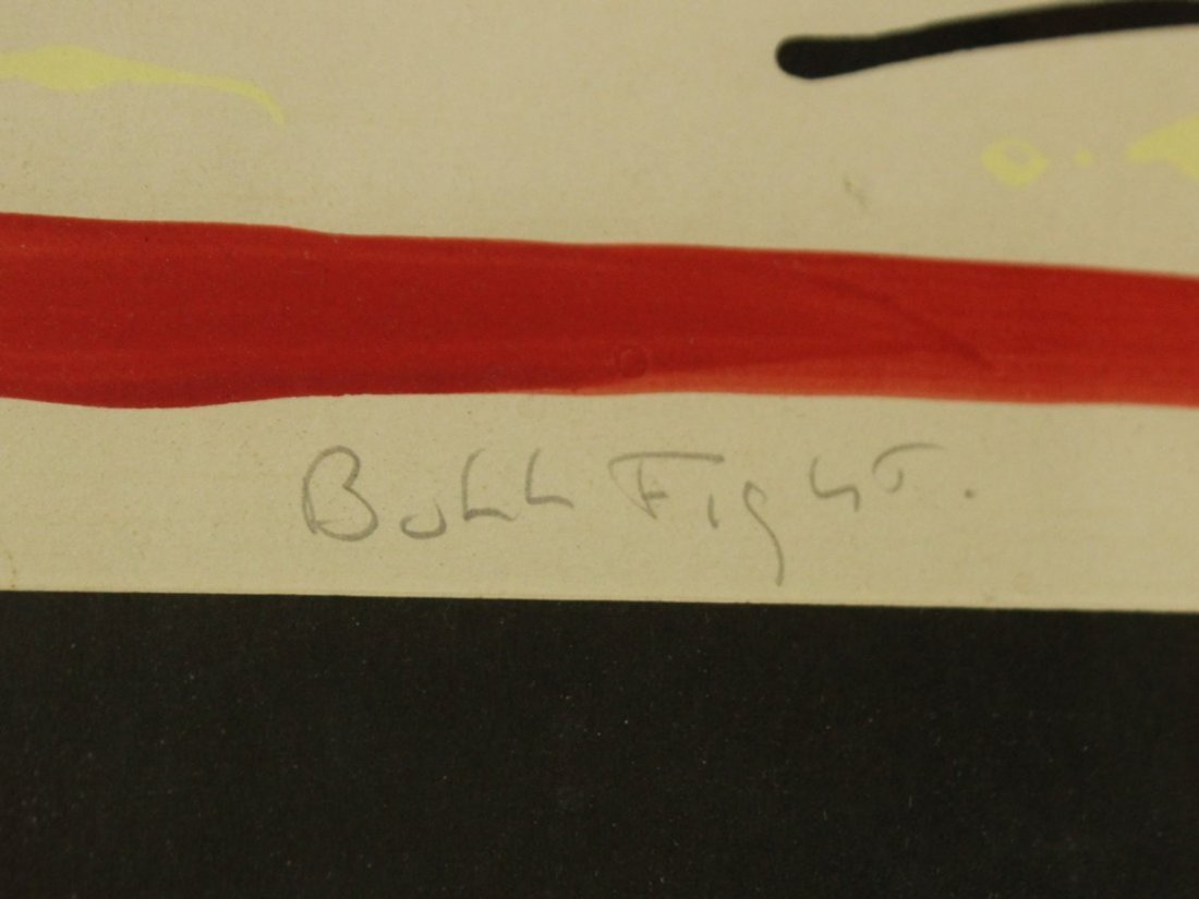 FRANCESCO PEREZ '70 BULL FIGHT Lithograph #23/120 - 3