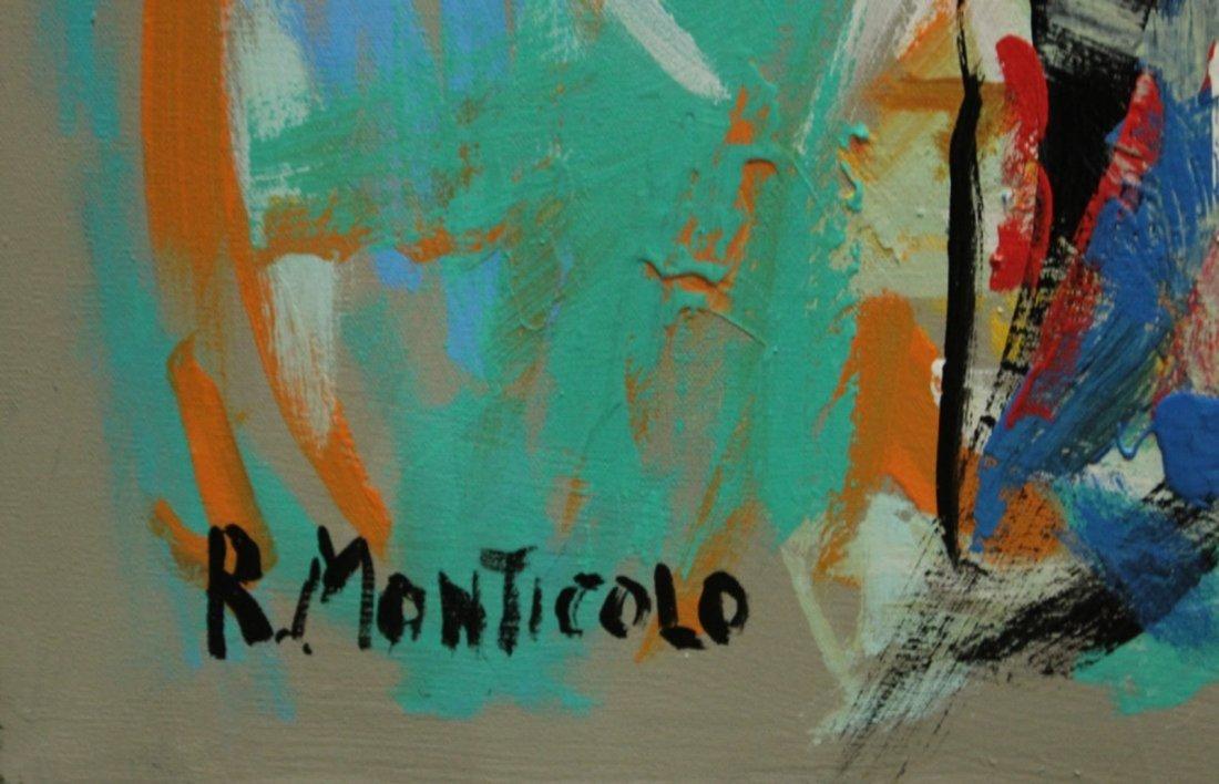 R. MONTICOLO OIL/C SEMI NUDE HIPPIE GIRL IN ABSTRACT - 2