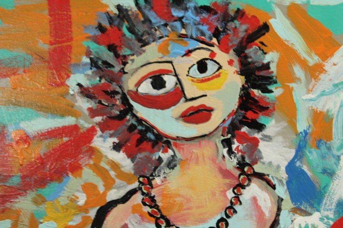 R. MONTICOLO OIL/C SEMI NUDE HIPPIE GIRL IN ABSTRACT - 3