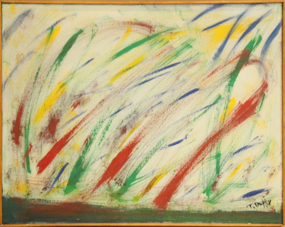 THOMAS G DUFFY 1924-1992, Listed, ABSTRACT OIL/C