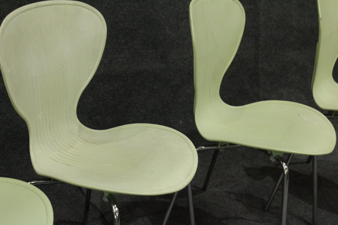"""Set 4 Mid-Century Design MOLDED CHAIRS, Made in """"ECC"""" - 3"""