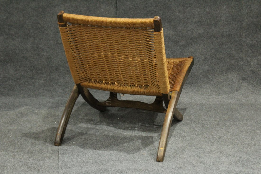 HANS WAGNER FOLDING CHAIR Woven Rope Back & Seat - 5