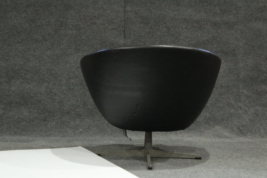 Original 1960s OVERMAN BLACK POD CHAIR With Label - 4