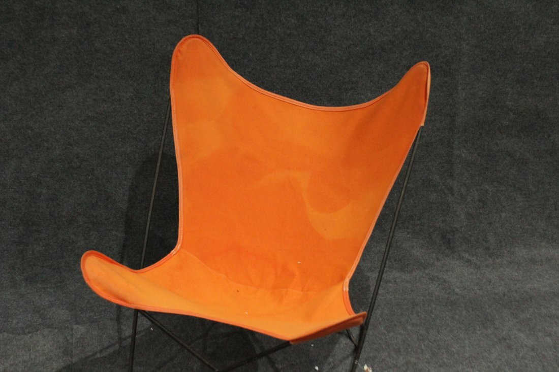 Original Vintage BUTTERFLY CHAIR Orange Upholstery - 2