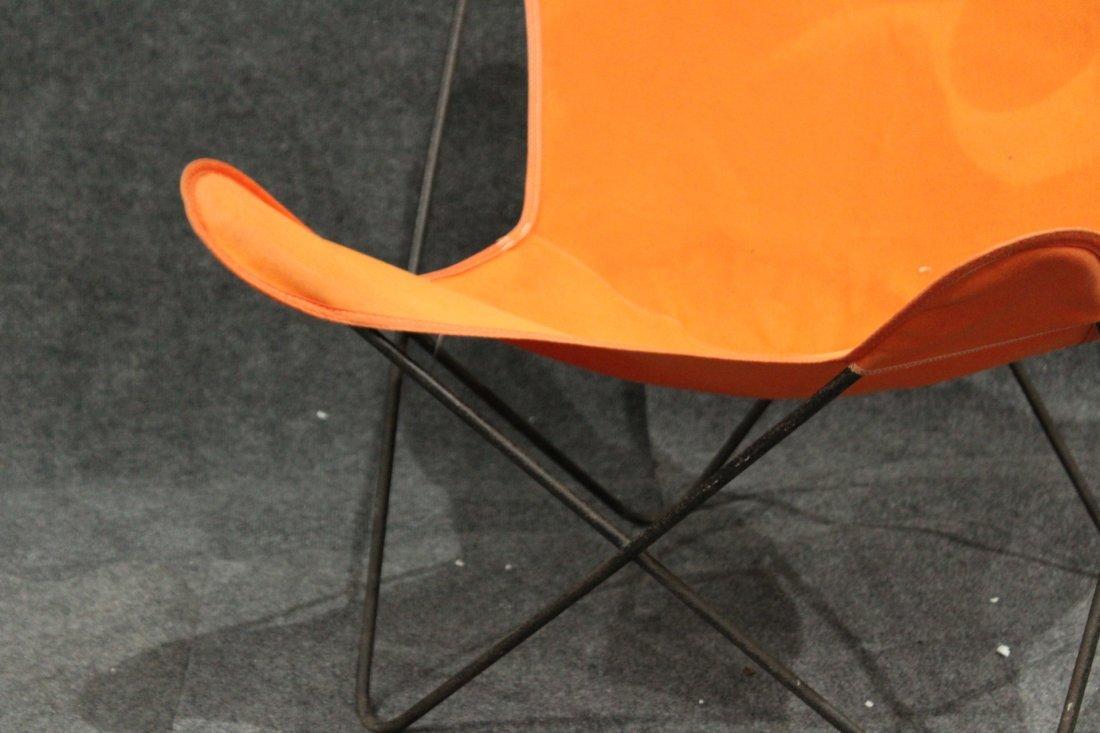 Original Vintage BUTTERFLY CHAIR Orange Upholstery - 3