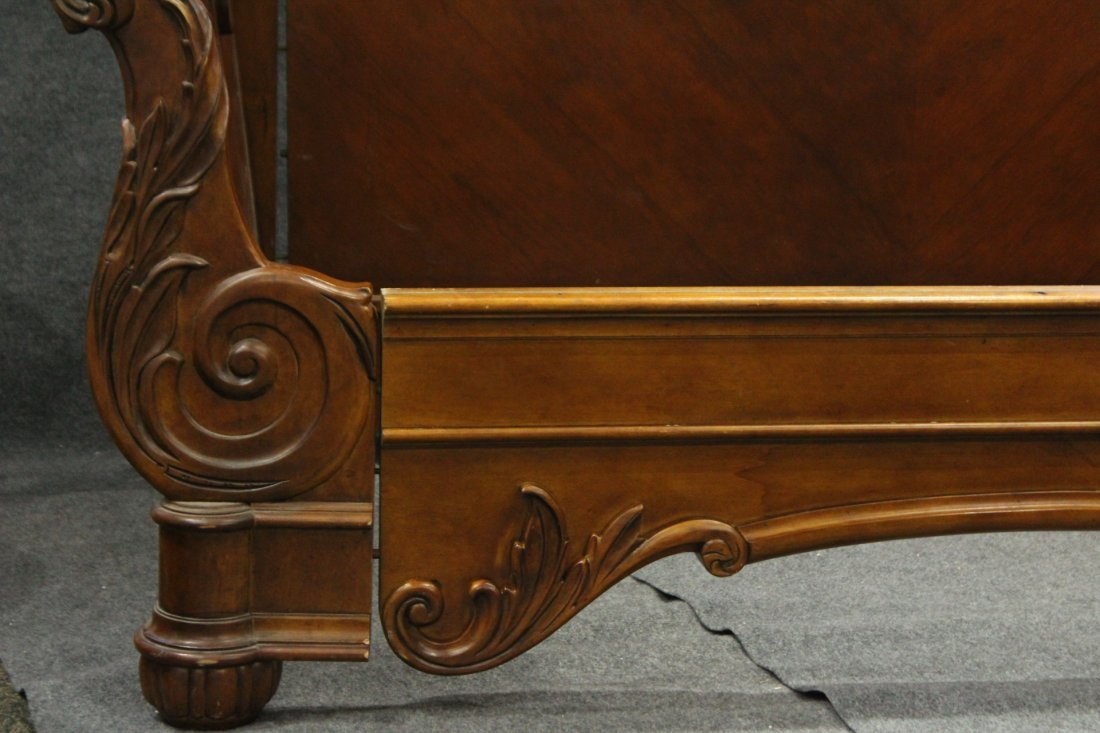 Carved CUSTOM MAHOGANY DAYBED Contemporary Victorian - 2