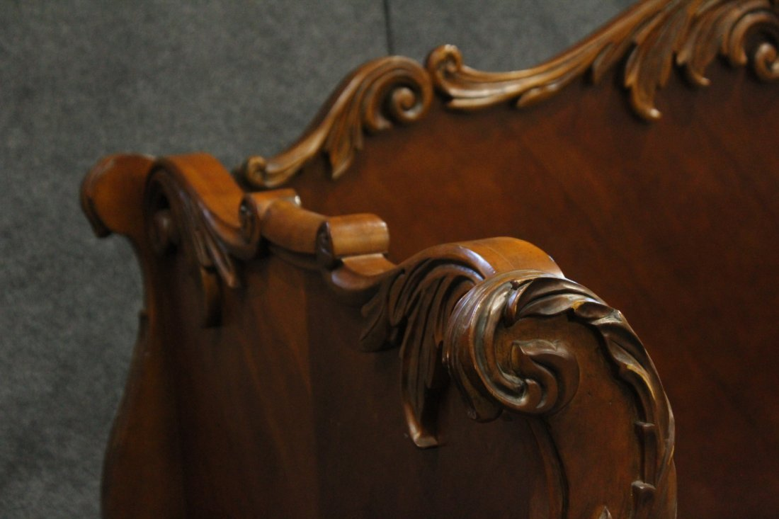 Carved CUSTOM MAHOGANY DAYBED Contemporary Victorian - 6