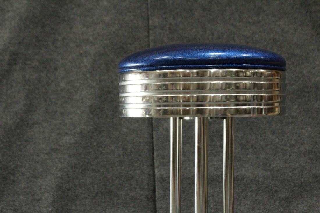 ART DECO TUBULAR CHROME SWIVEL SEAT BAR STOOL - 2