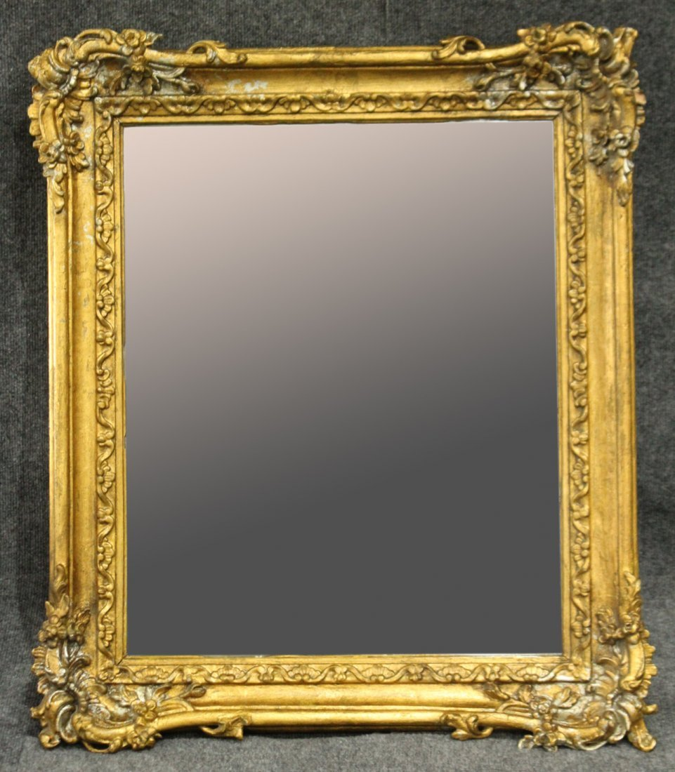 19th Century QUALITY CARVED GOLD VICTORIAN FRAME mirror
