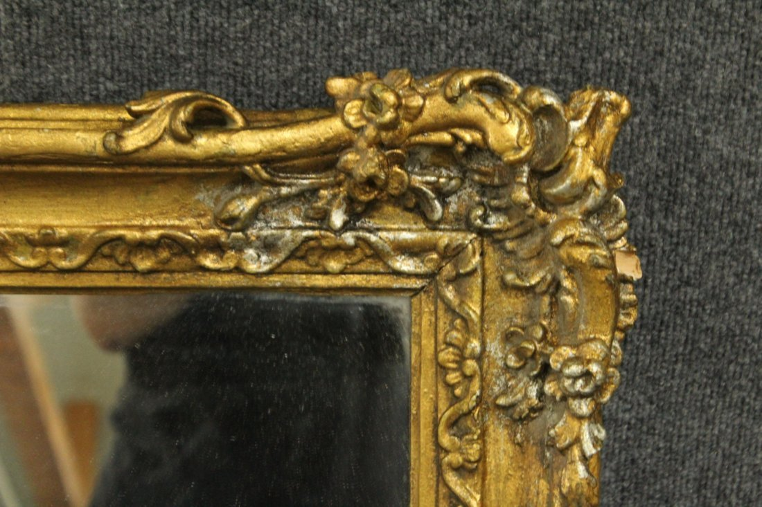 19th Century QUALITY CARVED GOLD VICTORIAN FRAME mirror - 2