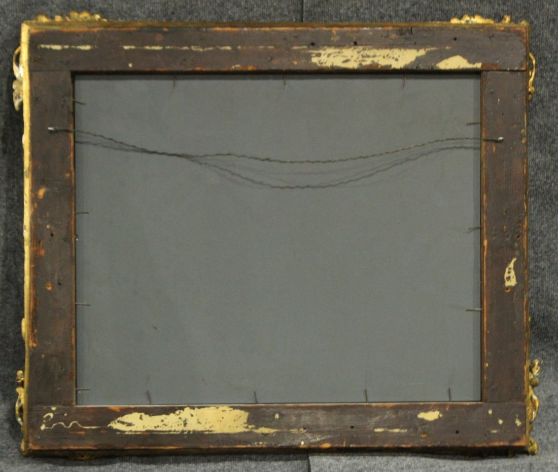 19th Century QUALITY CARVED GOLD VICTORIAN FRAME mirror - 3