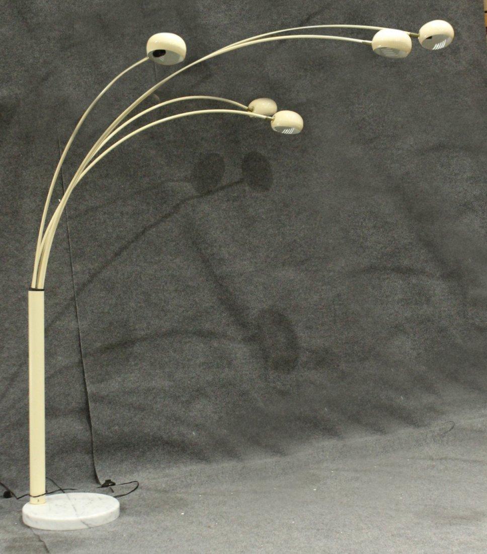 Mid-Century Design 5-ARM ARC LAMP ROUND MARBLE BASE
