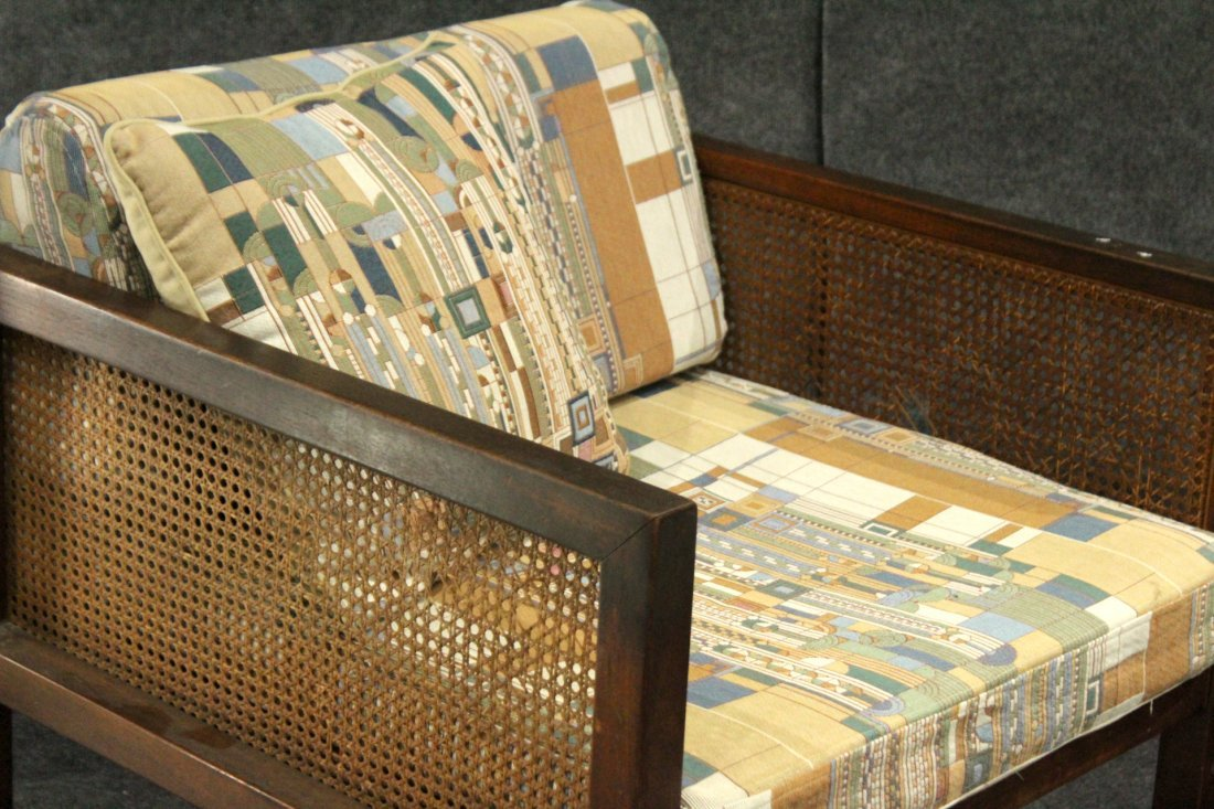 Pair FRANK LLOYD WRIGHT UPHOLSTERED Mid-Century Chairs - 2
