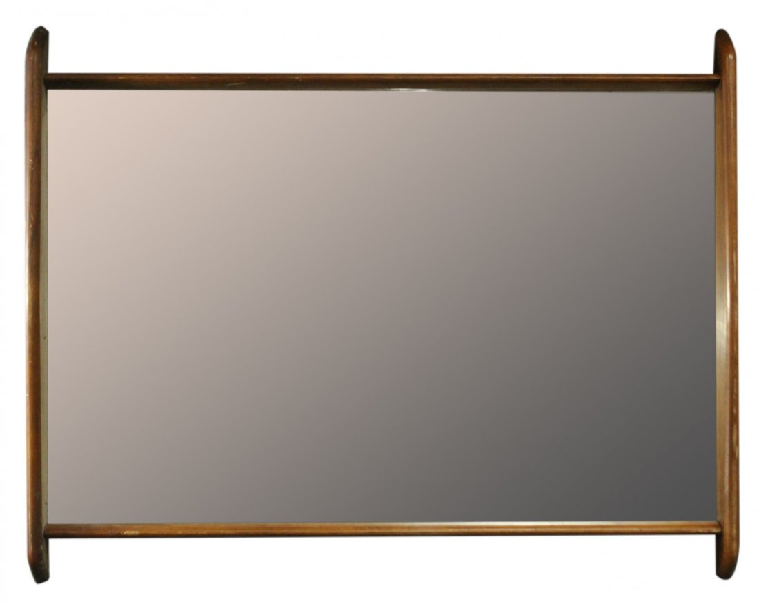 Mid-Century Modern Stylish Teak Frame Wall Mirror