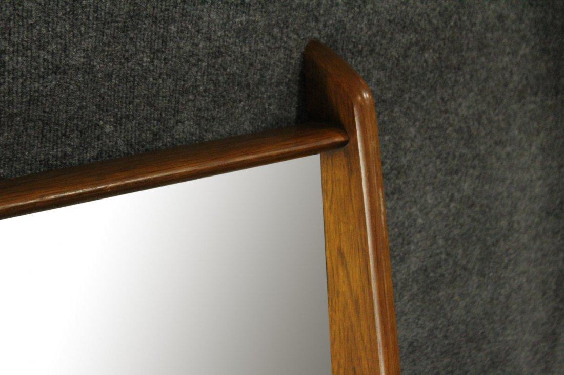 Mid-Century Modern Stylish Teak Frame Wall Mirror - 2