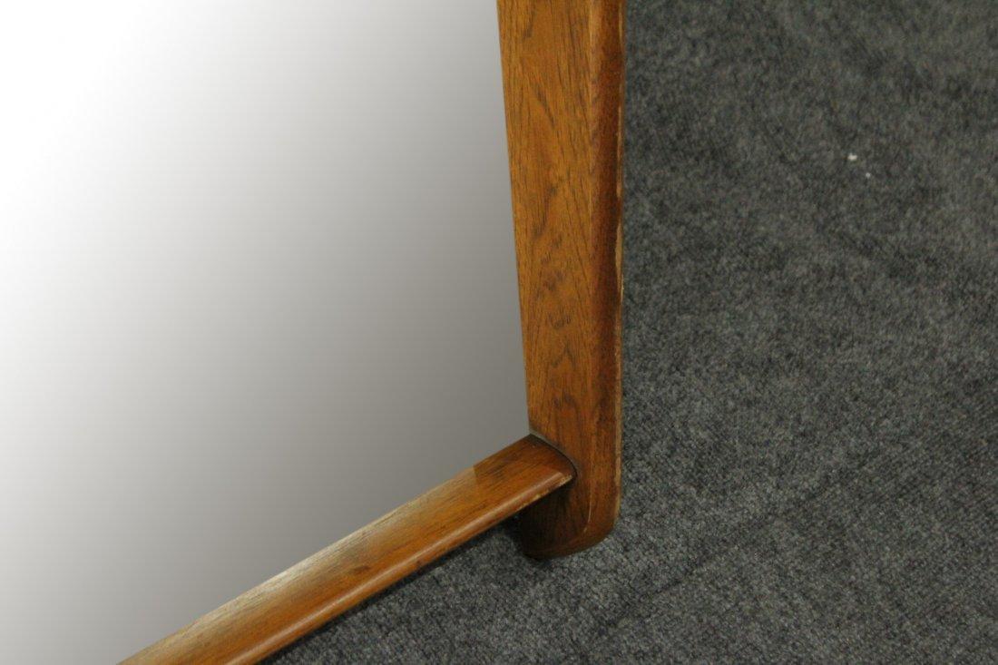 Mid-Century Modern Stylish Teak Frame Wall Mirror - 3