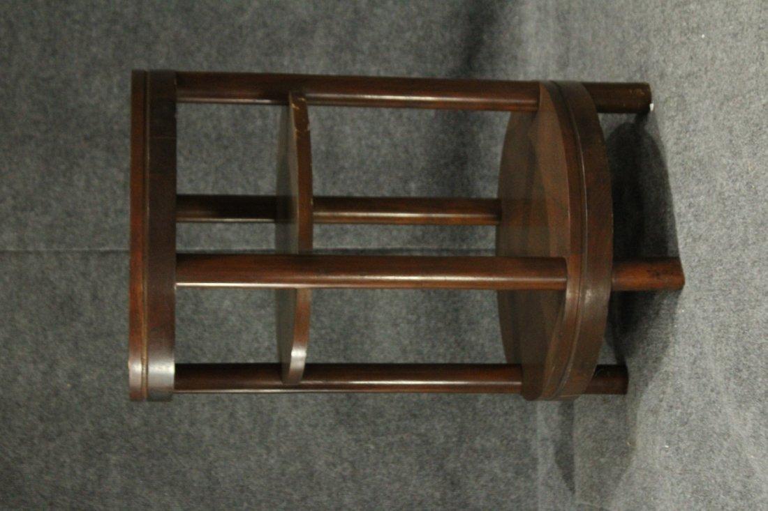 Mid-Century Modern Walnut ROUND CYLINDRICAL STAND - 2