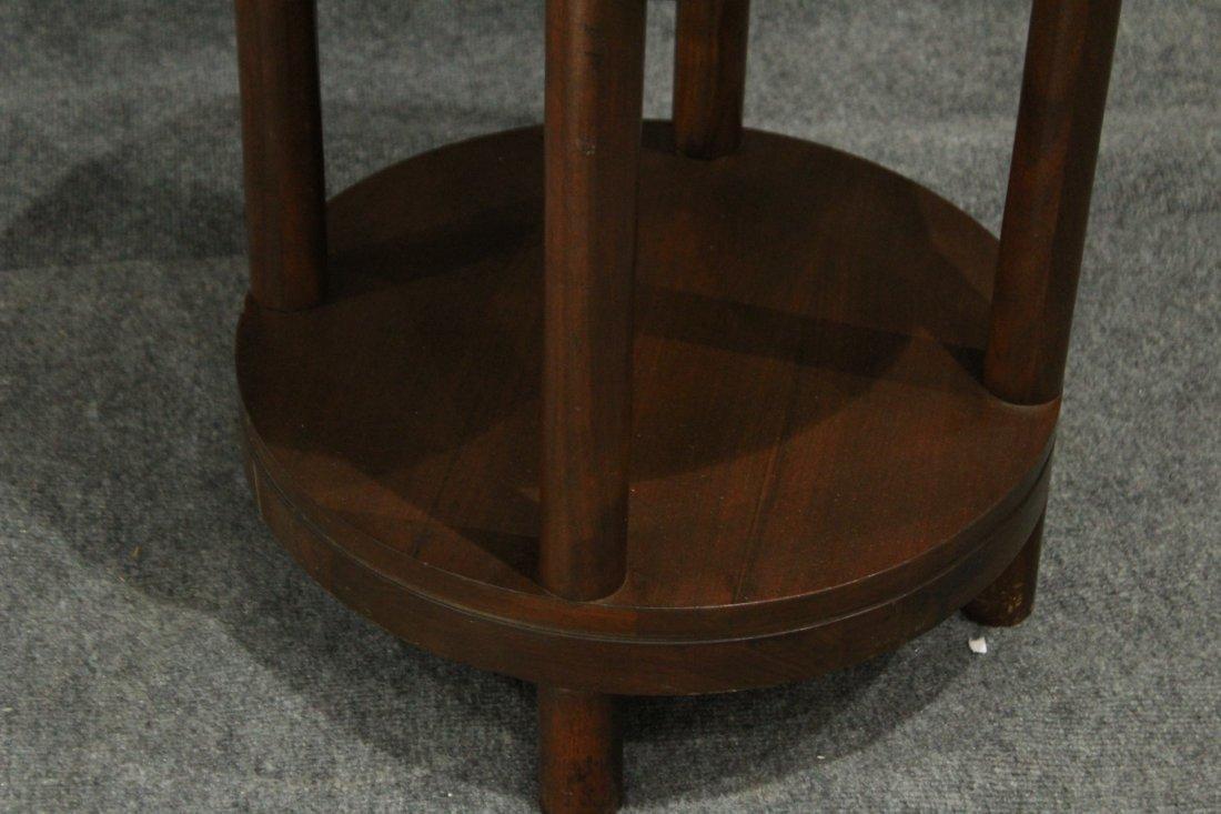 Mid-Century Modern Walnut ROUND CYLINDRICAL STAND - 5