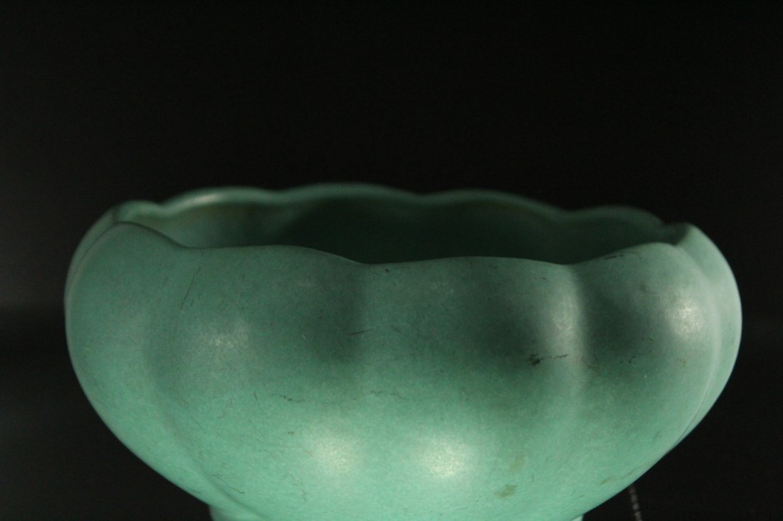 FULPER ART POTTERY Teal Glaze Bowl - 2