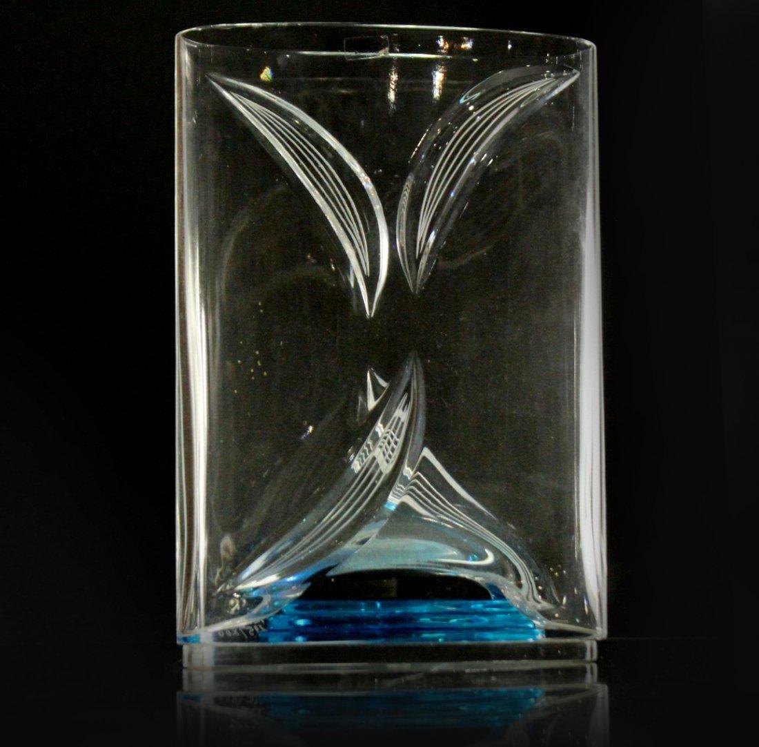 ITALIAN ART GLASS VASE Signed LORENZO #195 of 200 Ed.