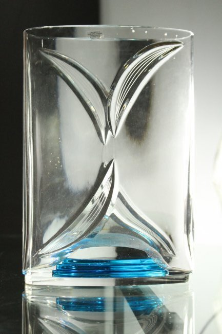 ITALIAN ART GLASS VASE Signed LORENZO #195 of 200 Ed. - 5