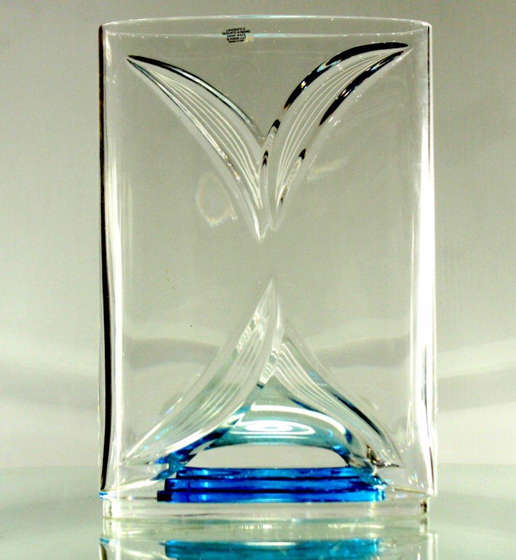 ITALIAN ART GLASS VASE Signed LORENZO #195 of 200 Ed. - 6