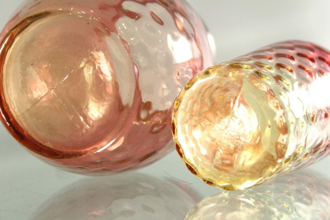Three [3] Assorted MOUNT WASHINGTON GLASS Amberina - 4