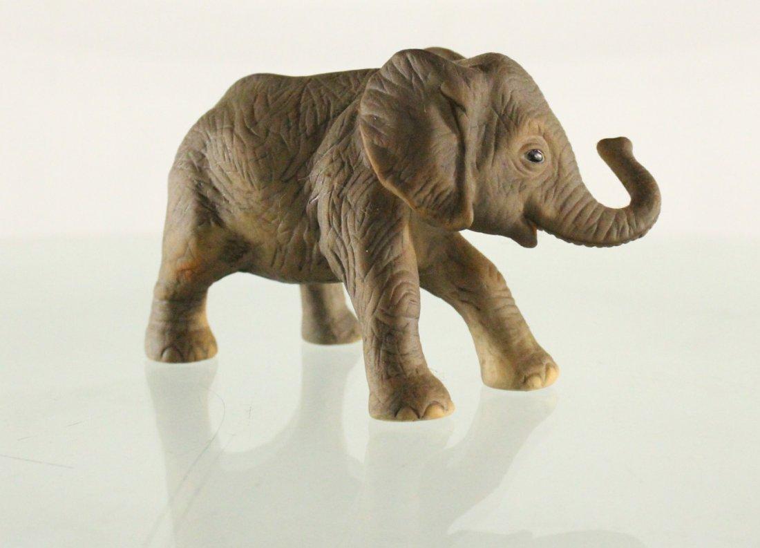 J BROWN R.S.L 1981 Mexico, PORCELAIN ELEPHANT Figurine