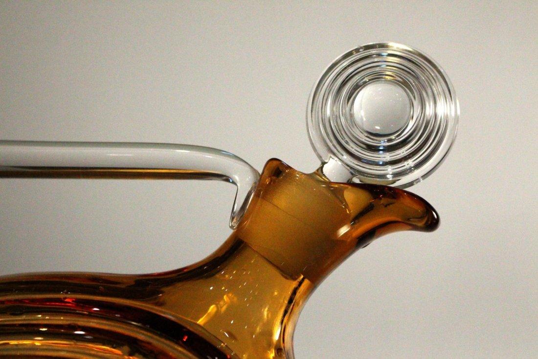 AMBER CAMBRIDGE GLASS DECANTER - Art Deco Style - 2