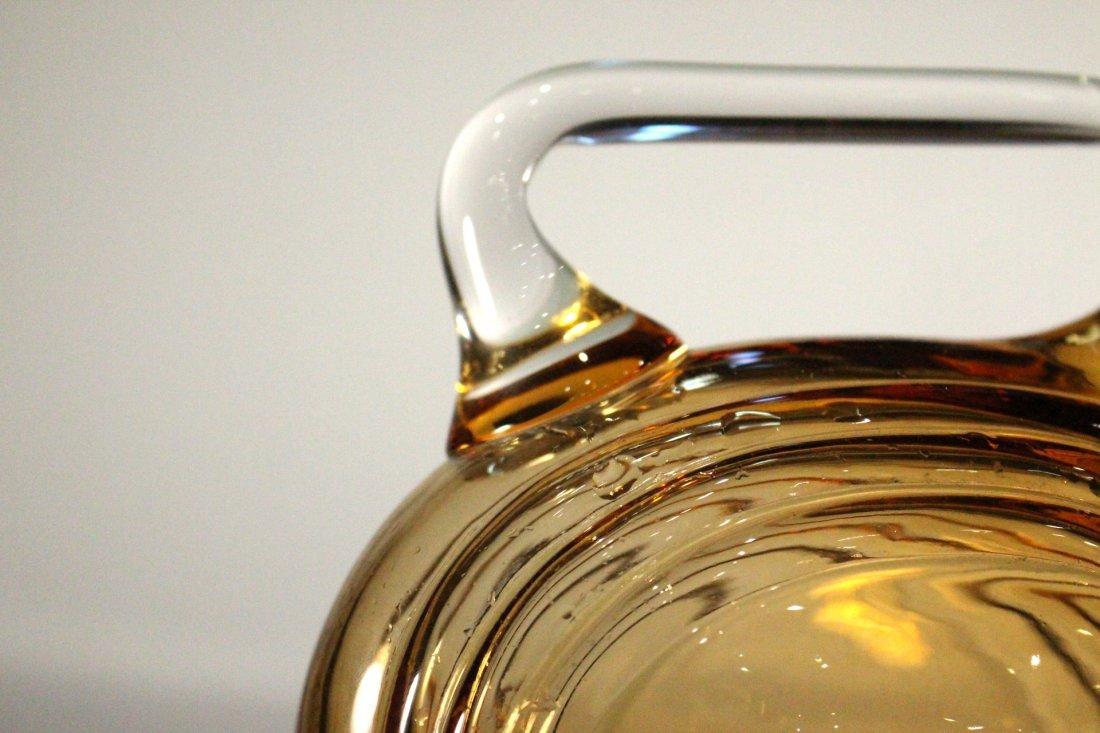 AMBER CAMBRIDGE GLASS DECANTER - Art Deco Style - 3